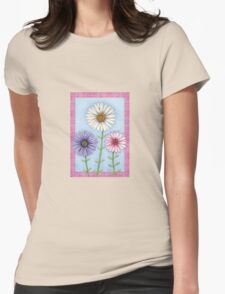 Trio of Daisies Womens Fitted T-Shirt
