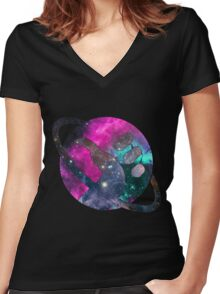 Don't Panic!  Women's Fitted V-Neck T-Shirt