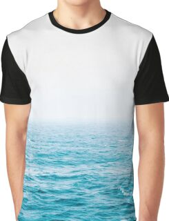 Landscape Blue water Graphic T-Shirt