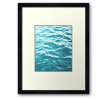 Landscape Blue water Framed Print