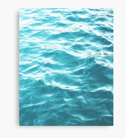 Landscape Blue water Canvas Print