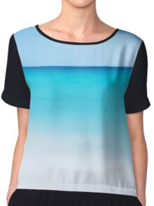 Landscape Blue water Chiffon Top