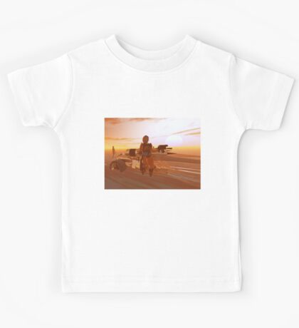 ARES CYBORG IN THE DESERT OF HYPERION,Sci Fi Movie Kids Tee