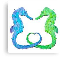 Seepferdchen - Sea Horse  version 2 Canvas Print