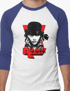 Red on my Ledger Men's Baseball ¾ T-Shirt