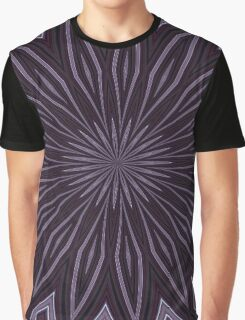 Eggplant and Aubergine Floral Design Graphic T-Shirt