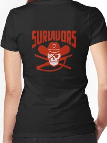 Survivors The Walking Dead TWD Women's Fitted V-Neck T-Shirt