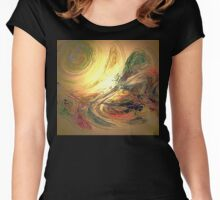 Digital Abstract Art Design Women's Fitted Scoop T-Shirt