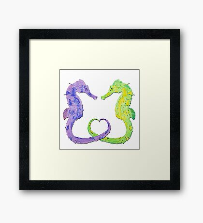Seepferdchen - Sea Horse  version 4 Framed Print