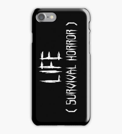 LIFE (survival horror) (White) iPhone Case/Skin