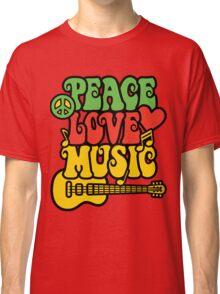 Reggae Peace-Love-Music Classic T-Shirt