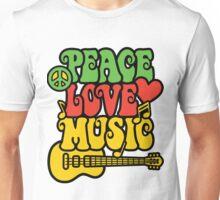 Reggae Peace-Love-Music Unisex T-Shirt
