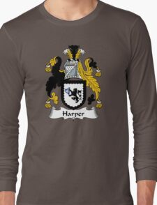 Harper Coat of Arms / Harper Family Crest Long Sleeve T-Shirt