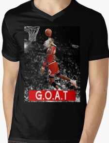 The G.O.A.T Mens V-Neck T-Shirt
