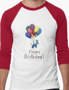 Balloon Animal Birthday Balloons! Men's Baseball ¾ T-Shirt
