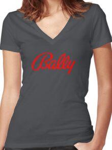 Bally classic pinball machines brand Women's Fitted V-Neck T-Shirt