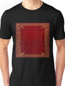 Red and Gilded Gold Book Unisex T-Shirt