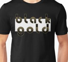 Black and Gold Logo Unisex T-Shirt