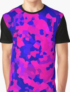 Blue and Pink Crystals Graphic T-Shirt
