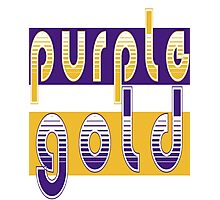 Purple and Gold Photographic Print