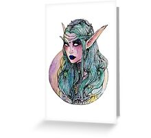 The night elf Greeting Card