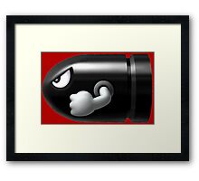 Bullet Bill Framed Print