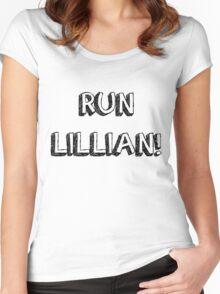 RUN LILLIAN! - FONT ONE Women's Fitted Scoop T-Shirt