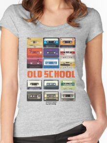 Cassettes Women's Fitted Scoop T-Shirt