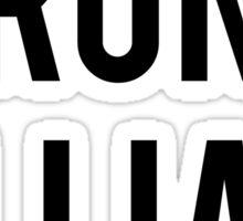RUN LILLIAN! - FONT TWO Sticker
