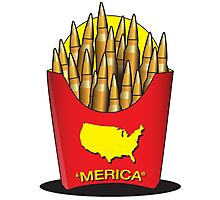 Merica Freedom Fries Photographic Print