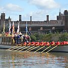 Queens Row Barge Gloriana by mike  jordan.
