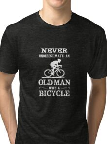 Old Man with a Bycycle Tri-blend T-Shirt