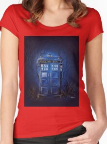 It's bigger on the inside Women's Fitted Scoop T-Shirt