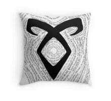 Shadowhunters-QuoteRune Throw Pillow