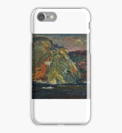 WHITE BOAT ON THE HUDSON RIVER (West Point) by ARTHUR CLIFTON GOODWIN iPhone Case/Skin