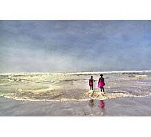 Pink at the Beach Photographic Print