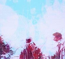 Colorful Sam, Dean and Cas Sticker
