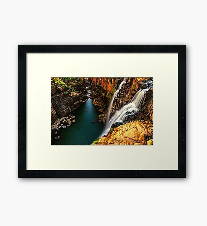 Little Mertens Falls Framed Print
