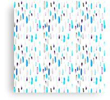 Watercolor Purple Rain Canvas Print