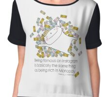Being famous .... quote / Cat doodles Chiffon Top