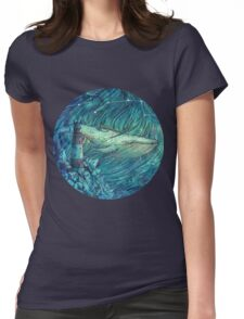Moonlit Sea Womens Fitted T-Shirt