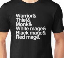 Final Fantasy Job Classes (white text) Unisex T-Shirt