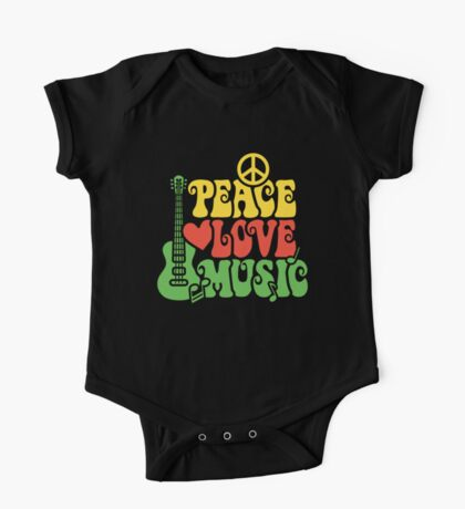 Reggae Peace Love Music One Piece - Short Sleeve