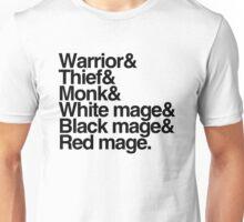 Final Fantasy Job Classes (black text) Unisex T-Shirt