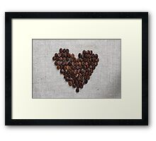 Heart from coffee beans Framed Print
