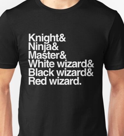 Final Fantasy Job Upgrade (white text) Unisex T-Shirt
