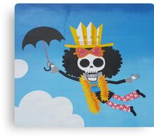 Surreal graffiti skeleton Canvas Print