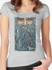 Old man Ocean Women's Fitted Scoop T-Shirt