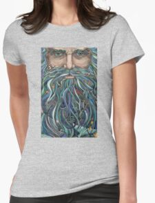 Old man Ocean Womens Fitted T-Shirt
