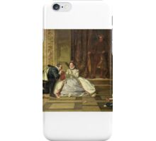William Frederick Yeames - Queen Elizabeth and the Earl of Leicester iPhone Case/Skin